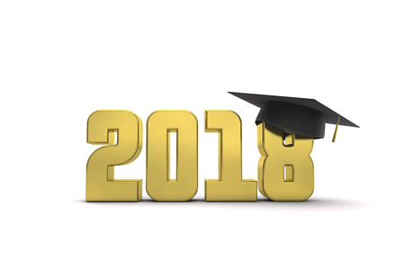 2018 graduation education message. 3D Rendering 写真素材