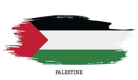 Palestine flag vector grunge paint stroke