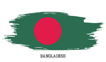 Bangladesh flag vector grunge paint stroke Illustration