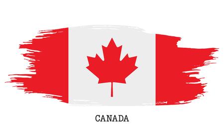 Canada flag vector grunge paint stroke Çizim
