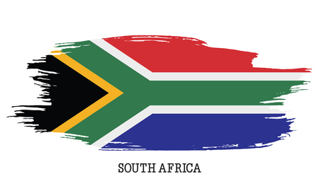 South Africa flag vector grunge paint stroke Stock Illustratie
