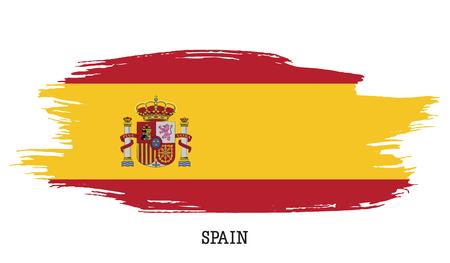 Spain flag vector grunge paint stroke