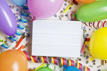 Blank lightbox party background