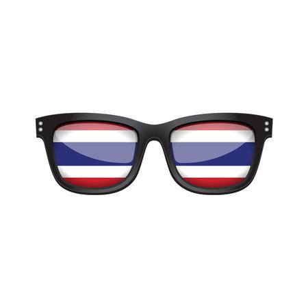 Thailand national flag fashionable sunglasses Banco de Imagens - 101855473