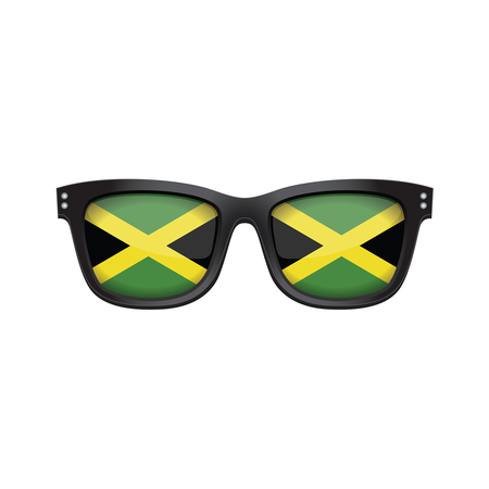 Jamaica national flag fashionable sunglasses