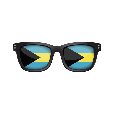 Bahamas national flag fashionable sunglasses