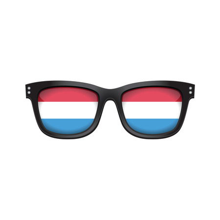 Luxembourg national flag fashionable sunglasses Stock Illustratie
