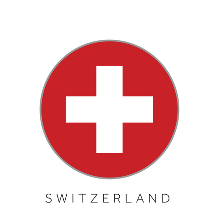Switzerland flag round circle vector icon Vettoriali