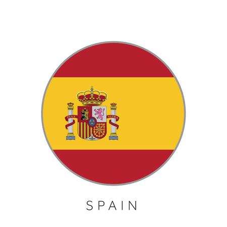 Spain flag round circle vector icon Foto de archivo - 96750942