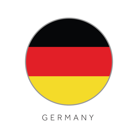 Germany flag round circle vector icon