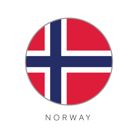 Norway flag round circle vector icon