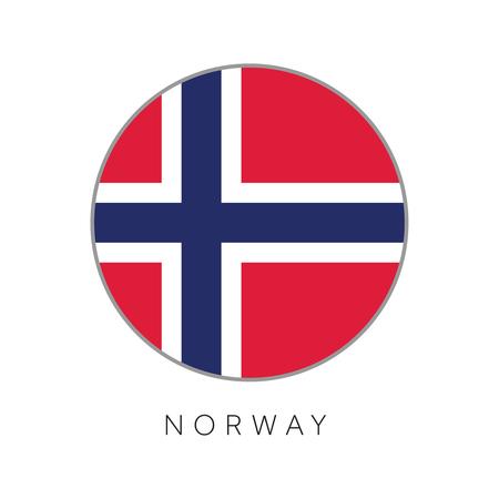 Norway flag round circle vector icon