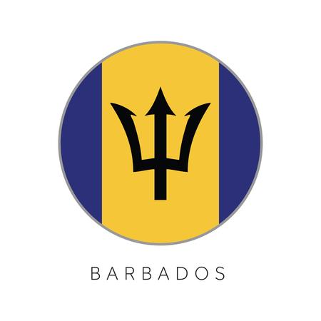 Barbados flag round circle vector icon Stock Vector - 96717537