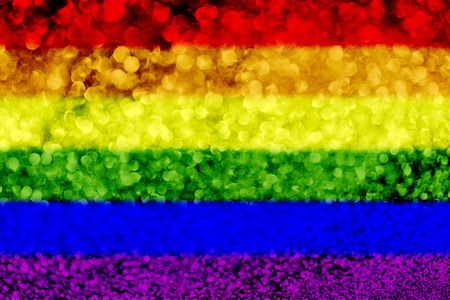 Gay pride rainbow flag glitter party celebration background Banque d'images