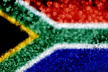 South Africa flag glitter party celebration background