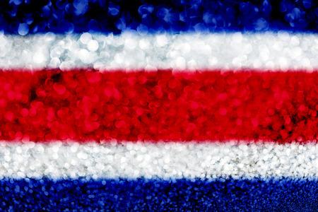 Cosa Rica flag glitter party celebration background