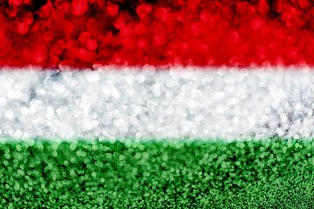 Hungary flag glitter party celebration background Foto de archivo