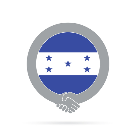 Honduras flag handshake icon. agreement, welcome, cooperation concept Vector illustration.