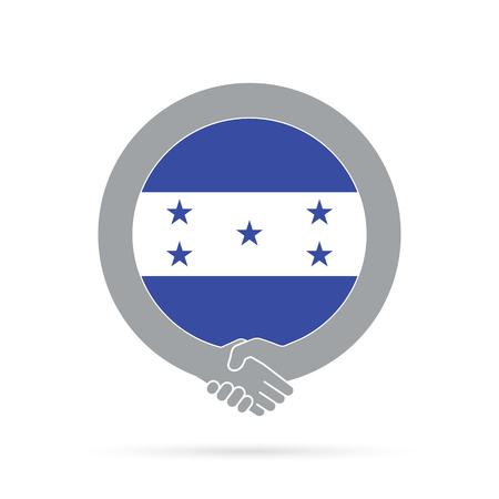Honduras flag handshake icon. agreement, welcome, cooperation concept
