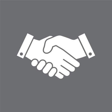 Shaking hands agreement vector icon.