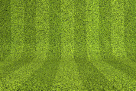 Striped green grass background. 3D Rendering