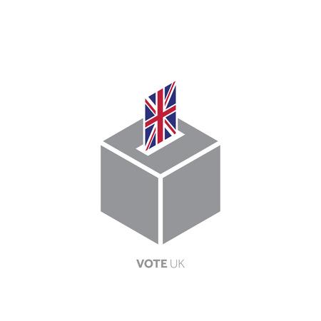 United Kingdom voting concept. National flag and ballot box.