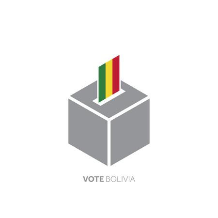 Bolivia voting concept. National flag and ballot box.