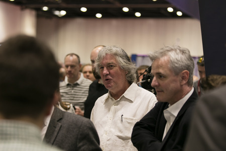 LONDON, UK - MAY 19th 2018: Television presenter James May visits the Confused.com London motor show at the Excel convention centre