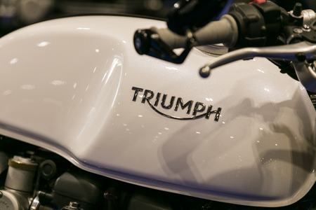 LONDON, UK - MAY 18th 2018: Triumph bikes at the confused.com London motor show at the excel convention centre. The show is the UK's largest automotive retail event