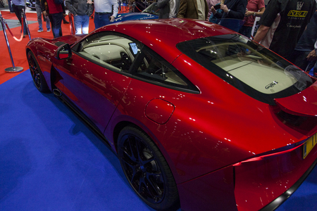 LONDON, UK - MAY 18th 2018: Sports car at the confused.com London motor show at the excel convention centre. The show is the UKs largest automotive retail event