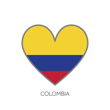 Colombia en amor amor icono de vector de corazón en forma de corazón Foto de archivo - 102147967