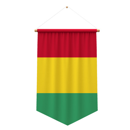 Guinea flag cloth hanging banner. 3D Rendering Stock Photo - 103256235