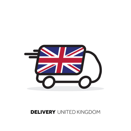 United Kingdom delivery van. Country logistics concept