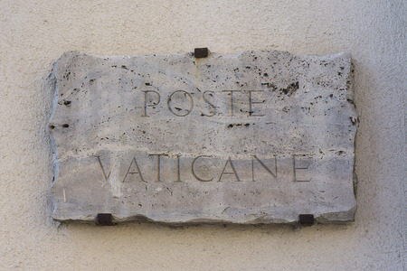 Vatican City post sign in Rome Italy