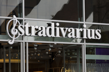 LONDON, UK - JULY 31th 2018: Stradivarius cloting brand shop on Oxford Street in central London. Editorial