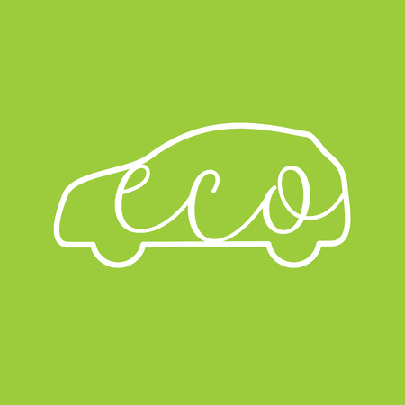 Green eco friendly car concept