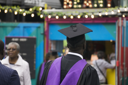 LONDON, UK - SEPTEMBER 5th 2018: Graduates from University College London attend their graduation ceremony in Central London 報道画像