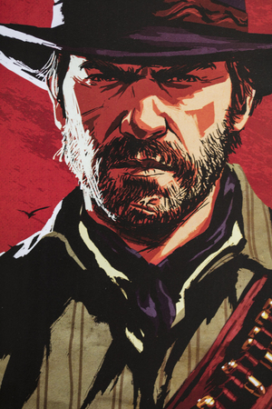 LONDON, UK - OCTOBER 24th 2018: Advert for Red Dead Redemption 2 video game made by Rockstar Games printed in a magazine
