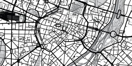 Urban vector city map of Munich, Germany Vektoros illusztráció