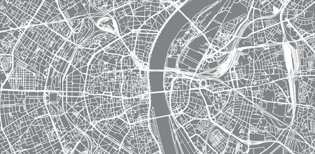 Urban vector city map of Cologne, Germany Illustration