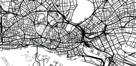 Urban vector city map of Hamburg, Germany Stock Photo