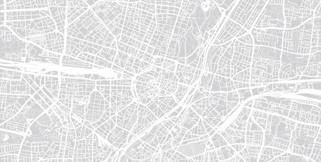 Urban vector city map of Munich, Germany 版權商用圖片