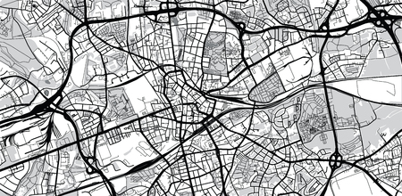 Urban Vector City Map Of Bochum Germany Royalty Free Cliparts