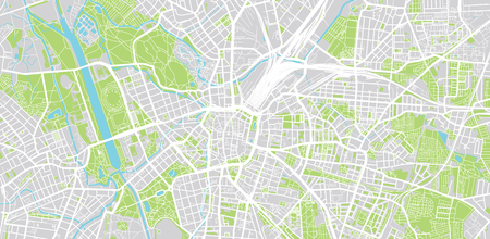 Urban vector city map of Leipzig, Germany Stok Fotoğraf