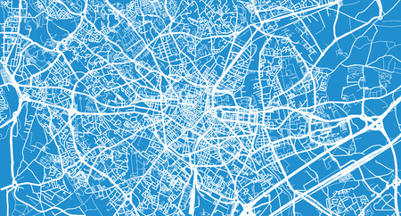 Urban vector city map of Montpellier, France