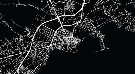 Urban vector city map of Ibiza, Spain Illustration