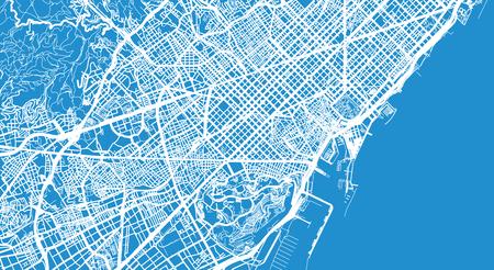 Stedelijke vector stadsplattegrond van Barcelona, Spanje