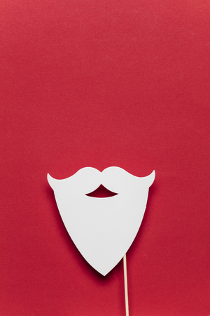 Christmas Santa Claus white beard on a red background