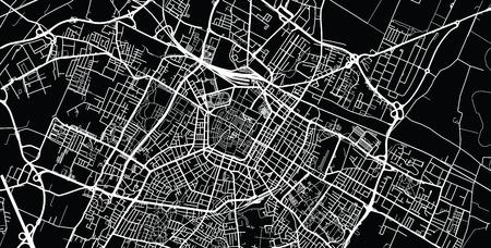 Urban vector city map of Modena, Italy Ilustração