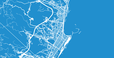 Urban vector city map of Messina, Italy Illustration
